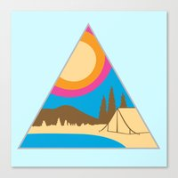 camping Canvas Prints featuring Camping by Wendy Ding: Illustration