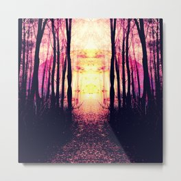 Path to Imagination : Mauve Pink Purple Metal Print