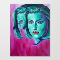 scully Canvas Prints featuring Scully by ZEKE