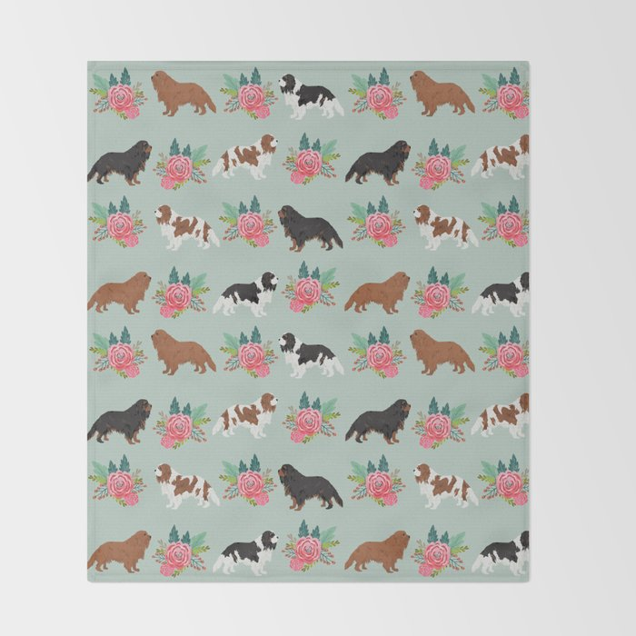 Cavalier King Charles Spaniel must have gift accessories for dog breed owner king charles dog Throw Blanket