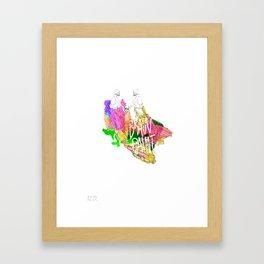 Brain Paint Framed Art Print