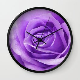 Violet roses Wall Clock