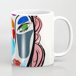 Poetic Pop Art Portrait Coffee Mug