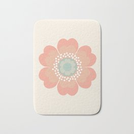 Good Look - 70s retro vibes floral flower power 1970's colorful retro vintage style Bath Mat