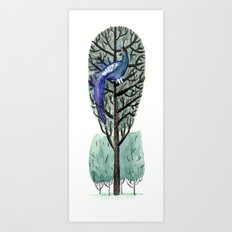 Peacock in a Tree Art Print