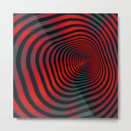 Square wormhole (red and green) Metal Print