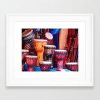 drums Framed Art Prints featuring Drums by UKTiger