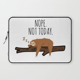 Nope. Not Today! Funny Sleeping Sloth On A Branch Gift Laptop Sleeve