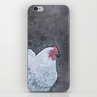 my mad fat diary iPhone & iPod Skins featuring My Big Fat Desaturated Chicken by Farm and Foundry