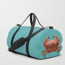 Polygon geometric crab Duffle Bag