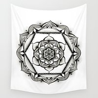 geometry Wall Tapestries featuring Geometry by JWRIGGS