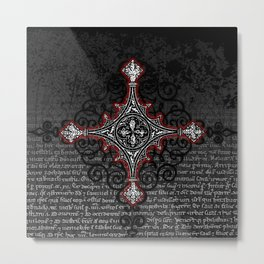 Noble House II CRUSADER RED / Grungy heraldry design Metal Print