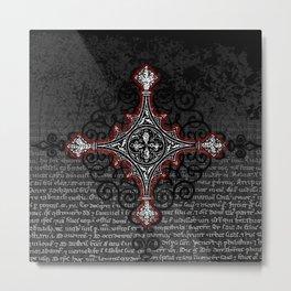 Noble House II CRUSADER RED / Grungy heraldry design Metal Print