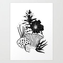 fall design BW Art Print