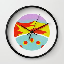 Mountain Magnification Wall Clock
