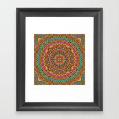 Hippie mandala 63 Framed Art Print