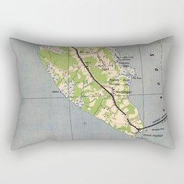 Vintage Map of Powells Point North Carolina (1940) Rectangular Pillow