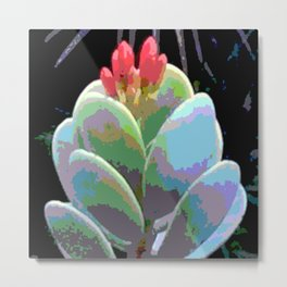 Cactus Flower Abstract Metal Print