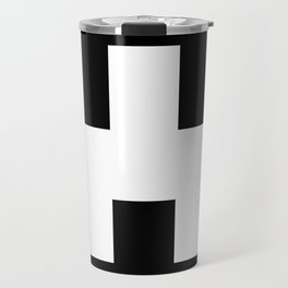 The Baxter's balaclava glyph on Black Mirror Travel Mug