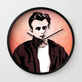 James Rebel Dean - Pop Art Wall Clock