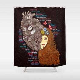 Always In My Head Lyrical Doodle Shower Curtain