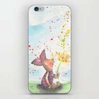 piglet iPhone & iPod Skins featuring Pooh and Piglet by Makenna Raye
