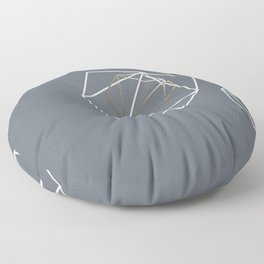 Abelie (White & gold) Floor Pillow
