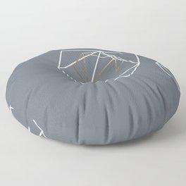 Abelie (White & gold) Floor Pillow