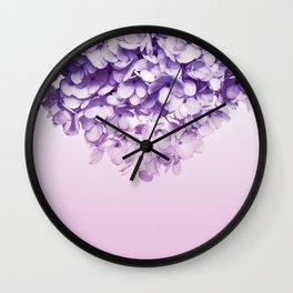Floral fringe - ultra violet Wall Clock