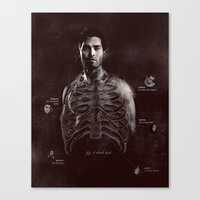 derek hale Canvas Prints featuring Fig. 3 Derek Hale by my dear sourwolf