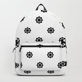 Dharma Wheel Pattern (Black and white) Backpack