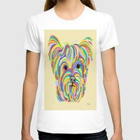 yorkie T-shirts featuring Yorkshire Terrier - YORKIE! by EloiseArt
