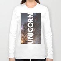 the last unicorn Long Sleeve T-shirts featuring Unicorn by eARTh