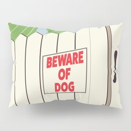 Beware of Dog vintage cartoon Pillow Sham