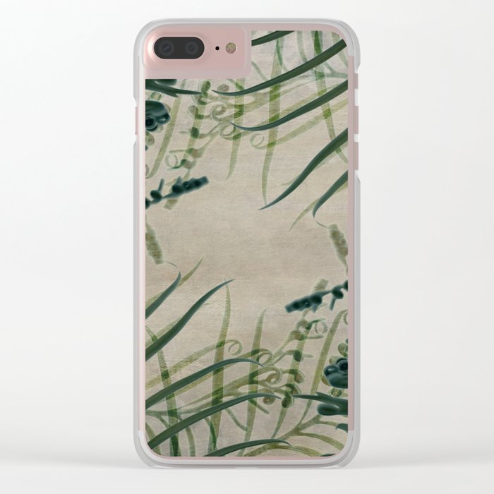 Cycas Leaves Abstract Clear iPhone Case