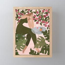 Brunch in the rose garden Framed Mini Art Print