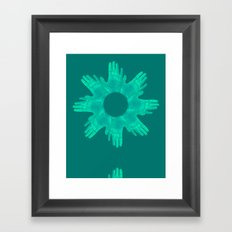 hands on Framed Art Print