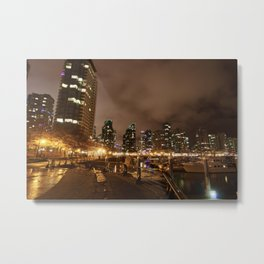 Coal Harbour Vancouver New Years Eve 2017 Metal Print
