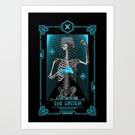 The Gamer X Tarot Card Art Print