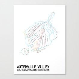 Waterville Valley Resort, NH - Minimalist Winter Trail Art Canvas Print