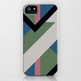 Modernist Dazzle Ship Camouflage Design iPhone Case
