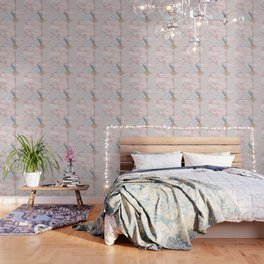 Geometric mix up - rose gold Wallpaper