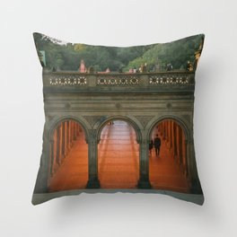 New York City Central Park Romance Throw Pillow