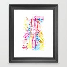P∆INTERLY Framed Art Print