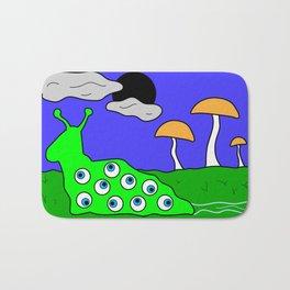 All Seeing Slug (Cartoon) Bath Mat