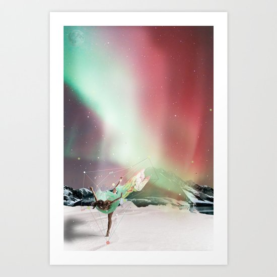 DANCE WITH AURORA Art Print