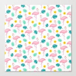 Flamingo Pattern 2 Canvas Print