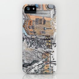 Spanish palace (color) iPhone Case