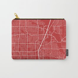 Plano Map, USA - Red Carry-All Pouch