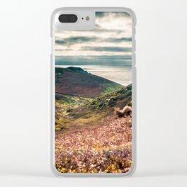 Cornish seascape, Landscape photography, Giclee print, Nautical wall decor, secret beach, Nanjizal Clear iPhone Case